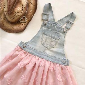 🎀Jordache Denim Pink tutu Dress SKirtAll🎀